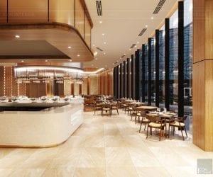 thiết kế khách sạn wyndham cam ranh - nhà hàng tầng 3