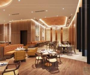 thiết kế khách sạn wyndham cam ranh - nhà hàng tầng 10