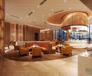 thiết kế khách sạn wyndham cam ranh - nhà hàng tầng 8