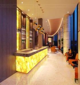 thiết kế khách sạn wyndham cam ranh - sảnh chính 7