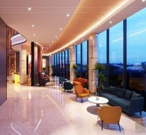 thiết kế khách sạn wyndham cam ranh - sảnh chính 8