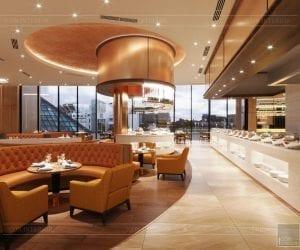 thiết kế khách sạn wyndham cam ranh - nhà hàng tầng 7