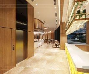thiết kế khách sạn wyndham cam ranh - nhà hàng tầng 2