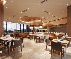 thiết kế khách sạn wyndham cam ranh - nhà hàng tầng 4