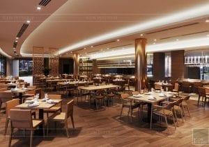 thiết kế khách sạn wyndham cam ranh - nhà hàng tầng 2 6