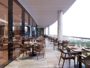 thiết kế khách sạn wyndham cam ranh - phong ăn ngoài trời 4