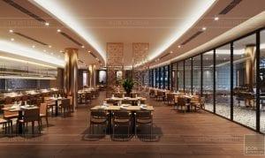 thiết kế khách sạn wyndham cam ranh - nhà hàng tầng 2 5