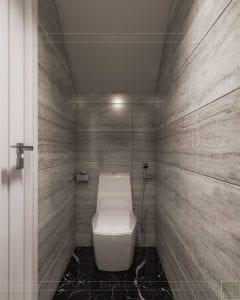 Thiết kế nội thất biệt thự Lavilla - phòng vệ sinh tầng 1 1