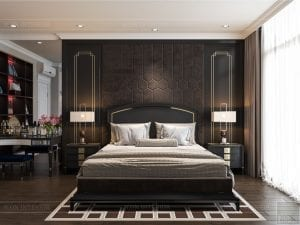 Thiết kế nội thất biệt thự Lavilla - phòng ngủ master 2