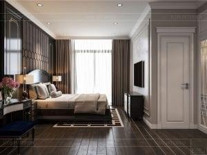 Thiết kế nội thất biệt thự Lavilla - phòng ngủ master 1