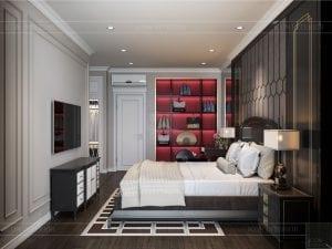 Thiết kế nội thất biệt thự Lavilla - phòng ngủ master 3