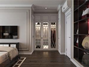 Thiết kế nội thất biệt thự Lavilla - phòng ngủ master 4