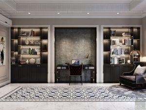 Thiết kế nội thất biệt thự Lavilla - bàn làm việc