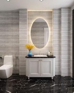 Thiết kế nội thất biệt thự Lavilla - phòng tắm tầng 3 2
