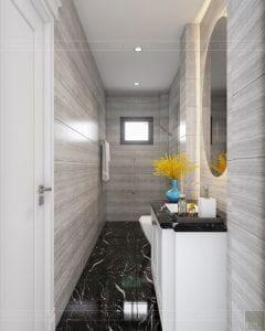 Thiết kế nội thất biệt thự Lavilla - phòng tắm tầng 3 1