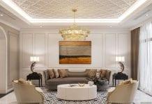 Thiết kế nội thất biệt thự Lavila - phòng khách bếp 3