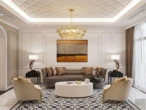 Thiết kế nội thất biệt thự Lavilla - phòng khách bếp 3