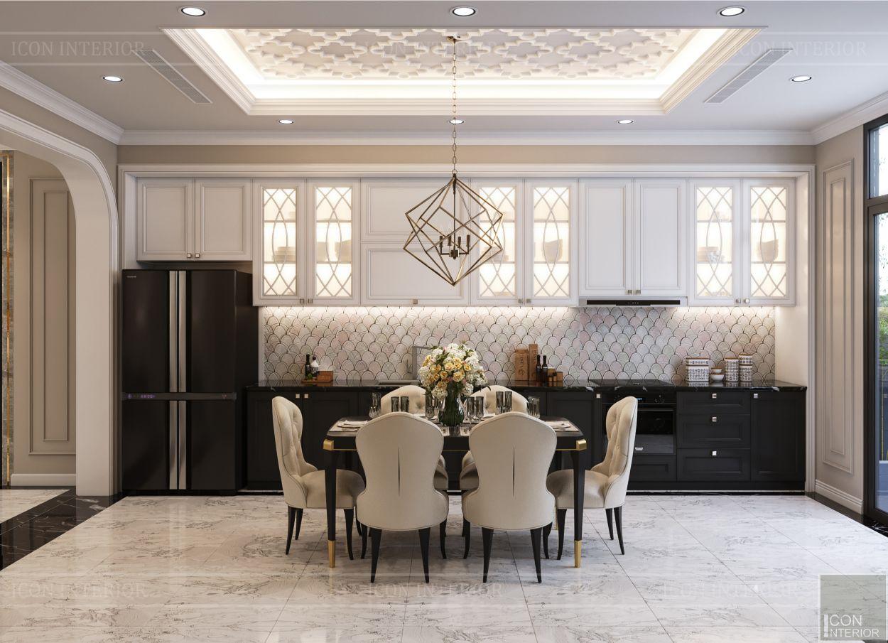 Thiết kế nội thất biệt thự Lavilla - phòng khách bếp 6