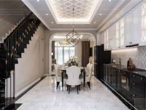 Thiết kế nội thất biệt thự Lavilla- phòng khách bếp 8