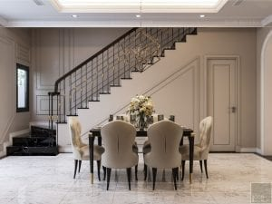 Thiết kế nội thất biệt thự Lavilla - phòng khách bếp 7