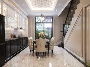 Thiết kế nội thất biệt thự Lavilla - phòng khách bếp 5