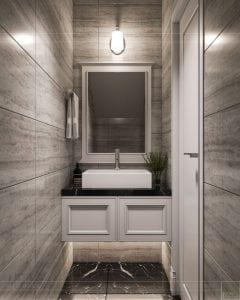 Thiết kế nội thất biệt thự Lavilla - phòng vệ sinh tầng 1