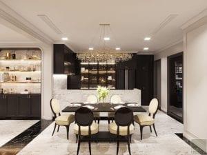thiết kế nội thất the landmark 81 - phòng khách bếp 8