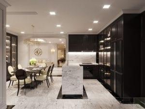 thiết kế nội thất the landmark 81 - phòng khách bếp 9