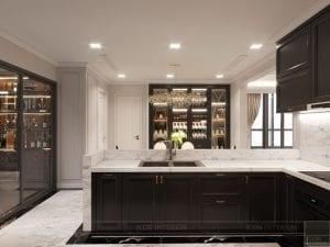 thiết kế nội thất the landmark 81 - phòng khách bếp 10
