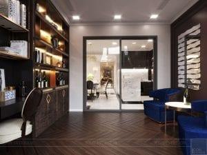 thiết kế nội thất the landmark 81 - phòng thư giãn 2