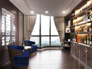 thiết kế nội thất the landmark 81 - phòng thư giãn 3
