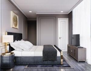 thiết kế nội thất the landmark 81 - phòng ngủ master 4