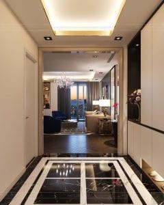 thiết kế nội thất the landmark 81 - phòng khách bếp 1