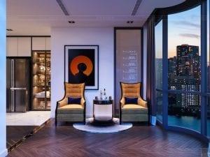 thiết kế nội thất the landmark 81 - phòng thư giãn