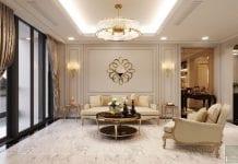 thiết kế nội thất the landmark 81 - phòng khách bếp 2