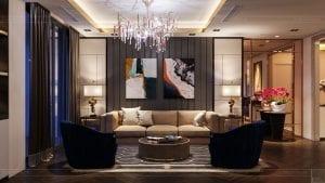 thiết kế nội thất the landmark 81 - phòng khách bếp 4