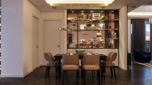 thiết kế nội thất the landmark 81 - phòng khách bếp 7