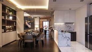 thiết kế nội thất the landmark 81 - phòng khách bếp 5