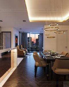thiết kế nội thất the landmark 81 - phòng ăn