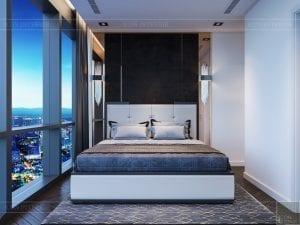 thiết kế nội thất the landmark 81 - phòng ngủ master 3