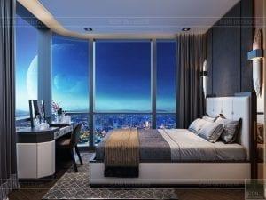 thiết kế nội thất the landmark 81 - phòng ngủ master 2