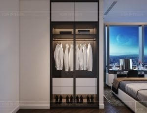 thiết kế nội thất the landmark 81 - phòng ngủ master 1