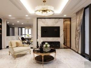 thiết kế nội thất the landmark 81 - phòng khách bếp 3