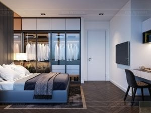 thiết kế nội thất the landmark 81 - phòng ngủ 3