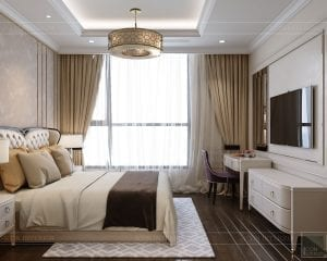 phong cách tân cổ điển nhẹ nhàng - phòng ngủ master 3