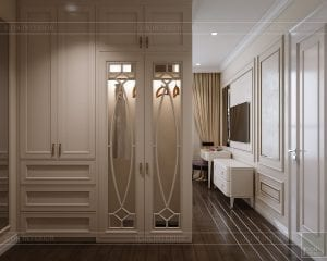 phong cách tân cổ điển nhẹ nhàng - phòng ngủ master 5