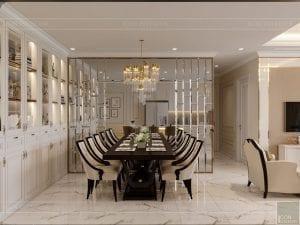 phong cách tân cổ điển nhẹ nhàng - phòng khách bếp 4