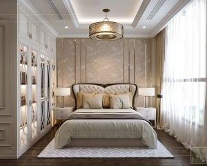phong cách tân cổ điển nhẹ nhàng - phòng ngủ master 1