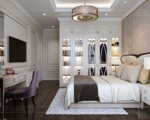 phong cách tân cổ điển nhẹ nhàng - phòng ngủ master 2