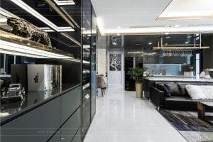 thiết kế thi công nội thất chung cư - phòng khách bếp 1